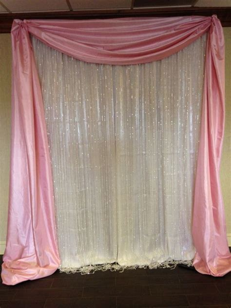 Wedding Backdrop Curtains by Best 25 Curtain Backdrop Wedding Ideas On