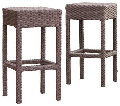 contemporary outdoor bar stools rudolfo outdoor backless bar stools set of 2