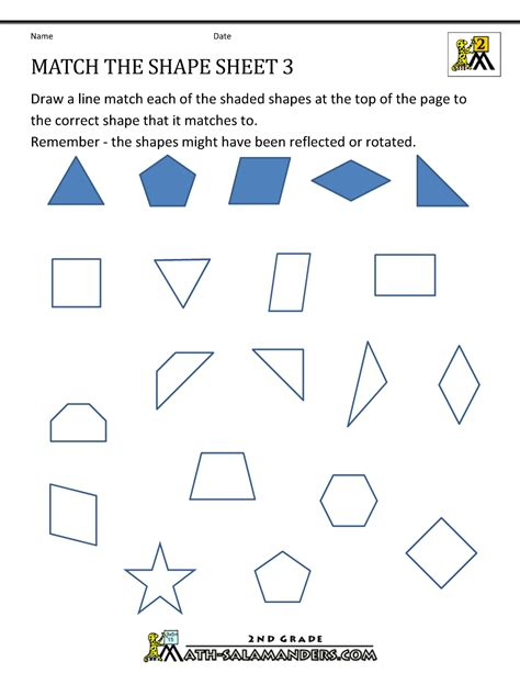 Free Geometry Worksheets by Transformation Geometry Worksheets 2nd Grade