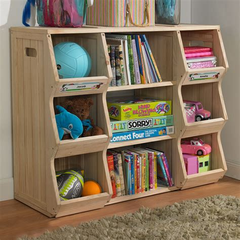 Merry Products Slf0031901910 Children S Bookshelf Cubby Bookshelves For Room