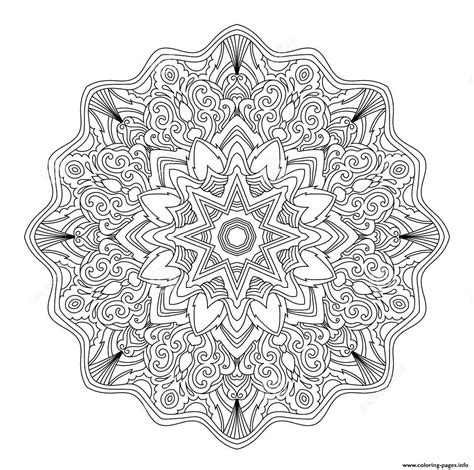 mandala adult abstract art therapy coloring pages printable