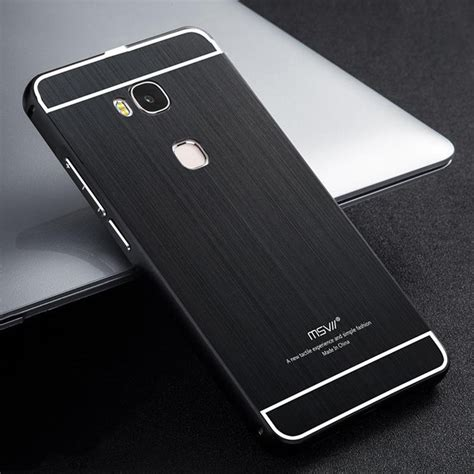 Metal Back Cover Huawei Honor 5x Gr5 Casing Bumper Aluminium Hardcase msvii huawei honor play 5x metal frame back cover protective black 12593 11 99