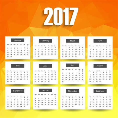 2017 brilhante calend 225 baixar vetores gr 225 tis