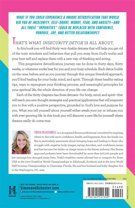 Moses 7 Day Anxiety Detox Series by Insecurity Detox Book By Trish Blackwell Todd Durkin