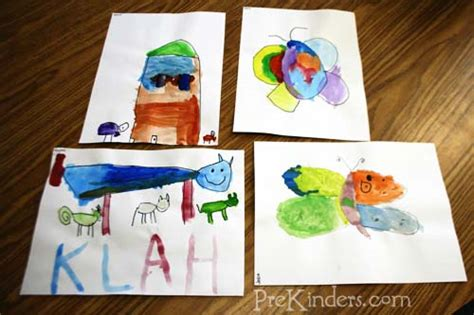 using watercolors prekinders