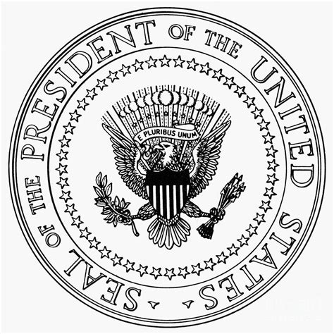 Presidential Seal Coloring Page Az Coloring Pages