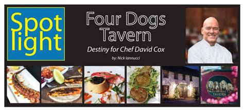 four dogs tavern four dogs tavern destiny for chef david cox samuels seafood