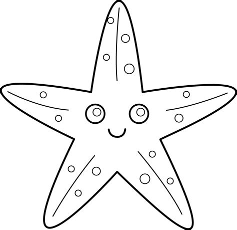 cute starfish coloring pages cute starfish line art free clip art