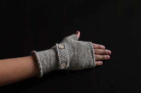 Handmade Fingerless Gloves - handmade knitted fingerless gloves wool on luulla