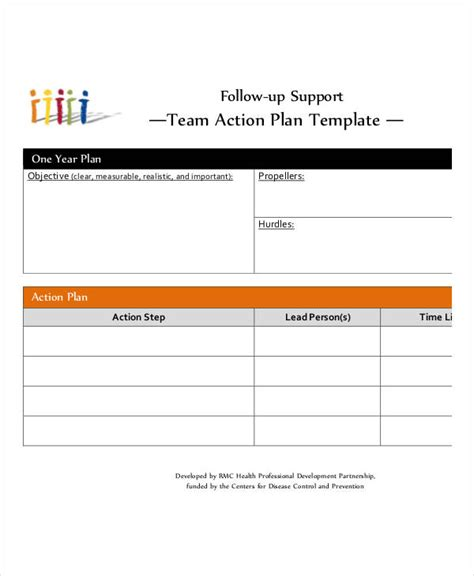 team plan templates 9 free pdf format