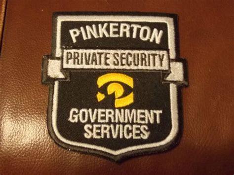 Pinkerton Background Check Pinkerton Security Collectibles Ebay