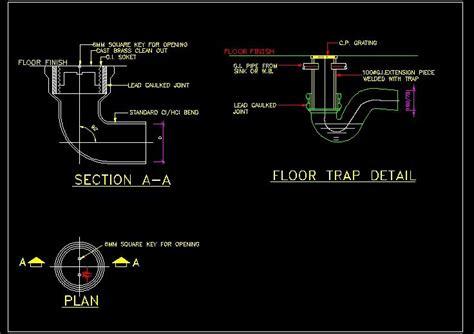 Floor Trap Detail   Autocad DWG File   Plan n Design