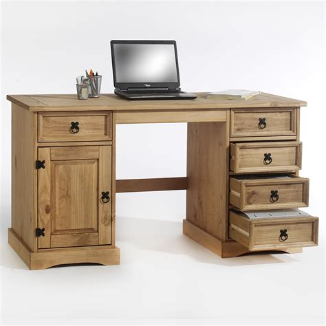 Bureau En Pin Tequila Style Mexicain Finition Cir 233 E Bureau En Pin