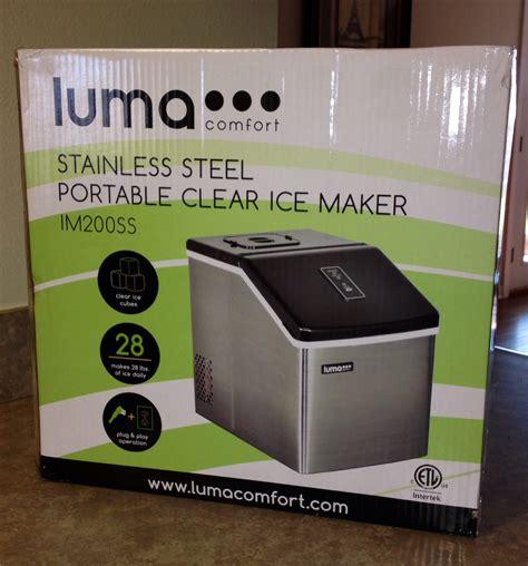 luma comfort im200ss luma comfort im200ss portable clear ice maker review