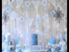 How To Make Winter Wonderland Decorations - diy winter wonderland party decorating ideas youtube