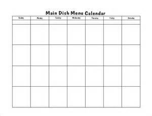 menu calendar template menu calendar templates 10 printable pdf documents