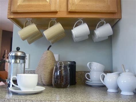 coffee cup rack cabinet this idea for cabinet storage kitchen ideas