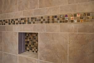 Master Bathroom Tile Designs by Master Bathroom Shower Closeup On Accent Tile