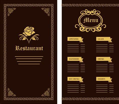restaurant menu templates for adobe illustrator restaurant menu template flower classical design on dark