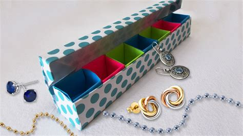 How To Make Cool Paper Crafts - diy paper crafts origami jewelery box tutorial cool