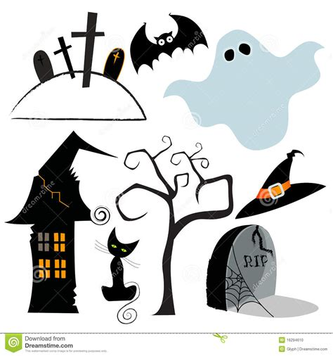 cute elements design vector set cute set of halloween design elements stock photo image