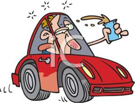 boat licence drink driving cartoon of a drunk driver driving with a beer royalty