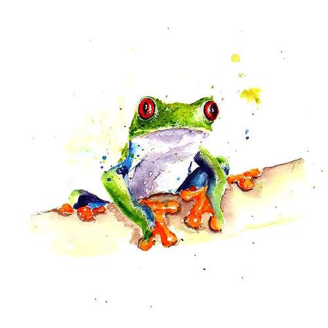 colorful tree frog tattoo design