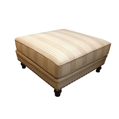 ottoman french european design french upholstered ottoman in linen