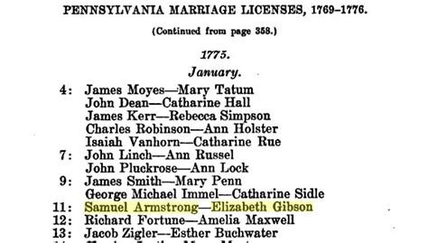 Bucks County Marriage Records Robert Gibson Children Bucks County
