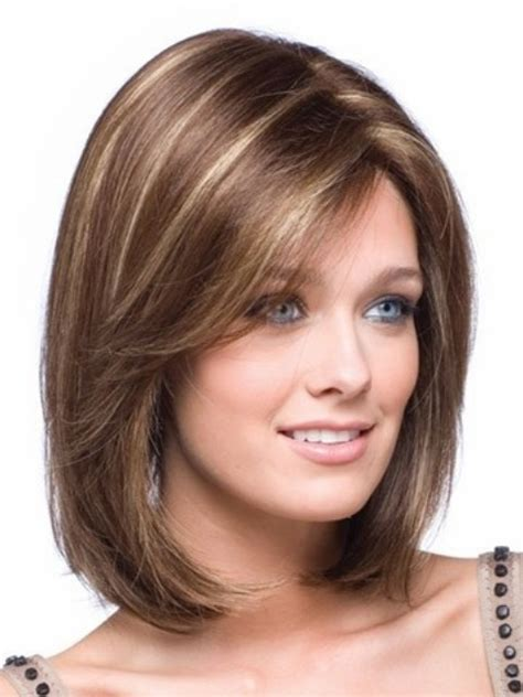 hairstyles for medium length hair and round face 16 sizzling shoulder length hairstyles to flatter your