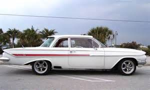 white 1961 chevrolet impala 2 door post sedan aucton