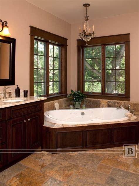 corner bathtub corner tub bathroom peach bathroom