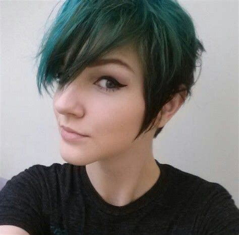 tan skin brown eyes pixie cut hair color 17 best images about blue streaks on pinterest dark