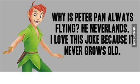Peter Pan Meme - why is peter pan always flying he neverlands ilove this