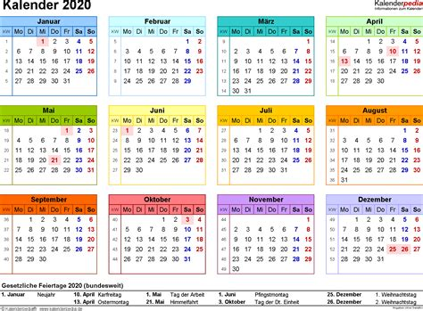 Kalender 2021 Bayern Kalender 2020 Zum Ausdrucken Als Pdf 16 Vorlagen Kostenlos