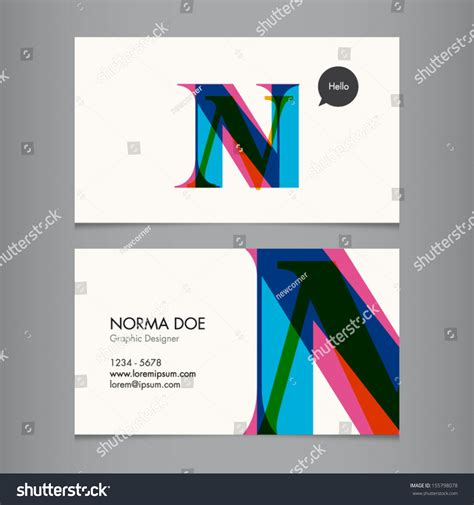 business card template us letter svg business card template letter n stock vector 155798078