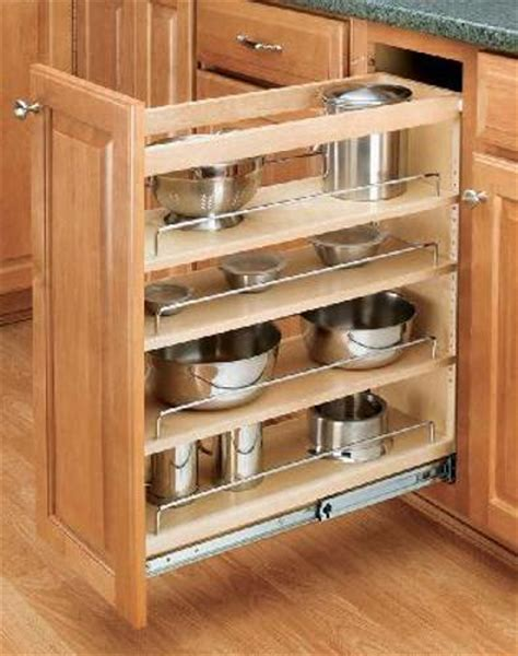 rev a shelf 5 in pull out wood foil wrap tray divider wood base organizer 5 inch 4 tier pull out shelf 448 bc 5c