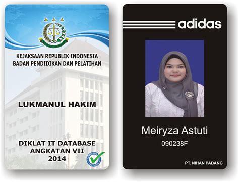 Murah Id Card 1 Slot jual jasa cetak id card murah standar iso atm te2 computer