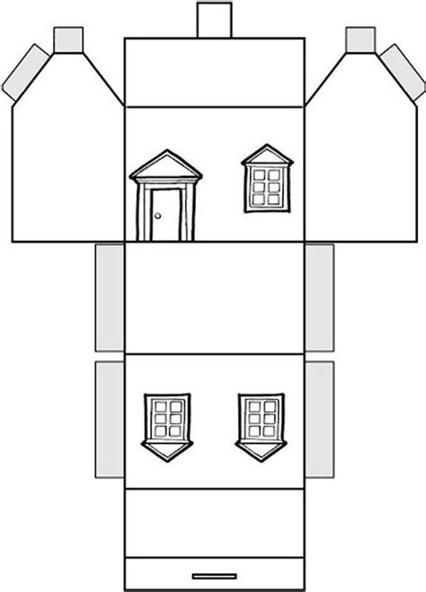 printable miniature house template новогодний домик своими руками выкройки инструкция