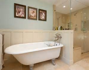 bathroom design clawfoot tubs panelling and walk in