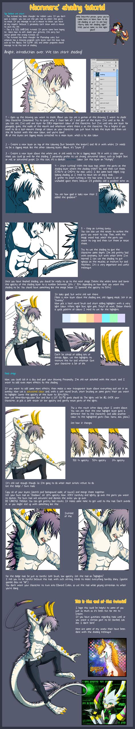 adobe photoshop shading tutorial cell shading tutorial by pandalecko on deviantart