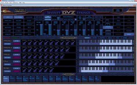 Sound Library Kontakt audio impressions 70 dvz strings kontakt 4 1 player controlled by audio impressions dvz