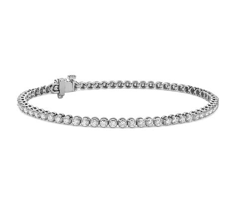 diamond tennis bracelet in 18k white gold 2 blue nile diamond tennis bracelet in 18k white gold 2 ct tw