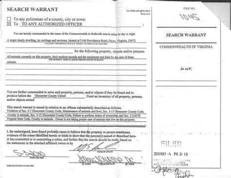 Va Warrant Search Illegal Search Warrant Virginia