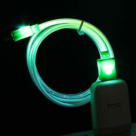 Led Samsung Galaxy S4 light up led micro usb data sync charger cable for htc lg samsung galaxy s3 s4