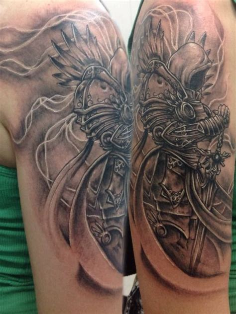 diablo tattoo tyrael done by walter velazquez tom