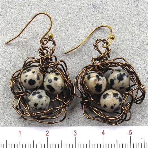 Handmade Gemstone Jewellery Australia - gemstone bird s nest earrings handmade jewellery australia
