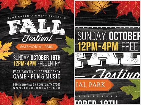 Fall Festival Flyer Templates Free fall festival flyer template 2 flyerheroes