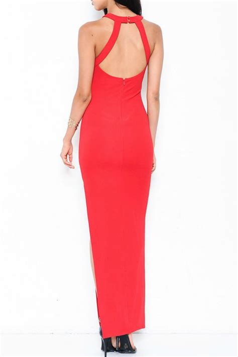 what is a slit l l atiste slit gown from florida by covetique shoptiques