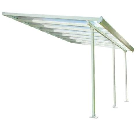 Awnings At Home Depot by Palram 10 Ft X 14 Ft Aluminum And Polycarbonate Patio
